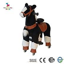 Black Pony Cycle Rocking Horse Ride On Horse