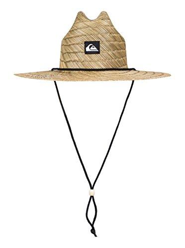 Quiksilver Pierside Slim Lifeguard Hat Natural L/XL & Sunlotion Bundle