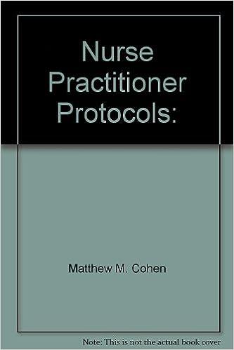 Amazon Nurse Practitioner Protocols 9780924381379 Matthew M