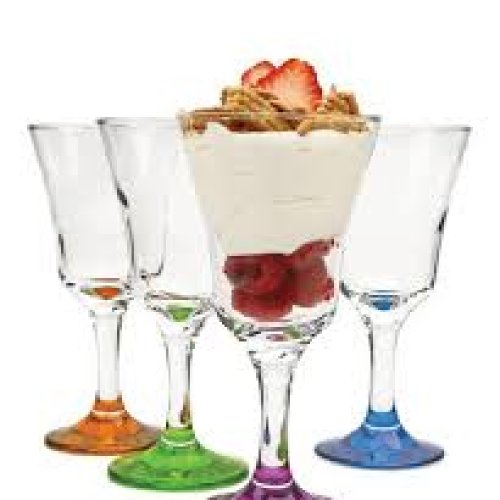 "Cheap 4 Piece Set of 6oz ""Madeline' Stylish Dessert Glasses"