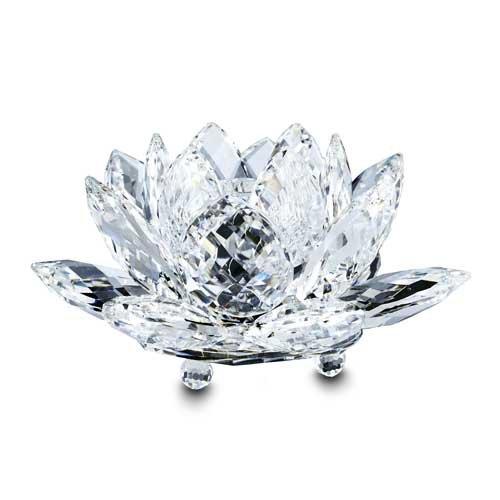 Swarovski Crystal Large Waterlily Candleholder