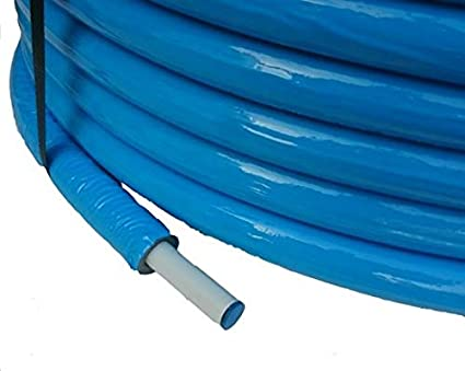 Isolierter ALU-PEX Mehrschichtiges Heizungsrohr 16x2mm Rot Verbindungsmaterial Flexibel Rohr 25m Rolle