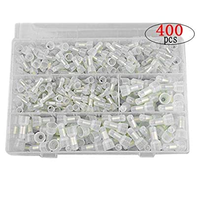 XLX 400 PCS Power-Cable Terminals AWG 22-16(150 PCS) 16-14(150 PCS) 12-10(100 PCS) Closed End Crimp Wire Connector Terminal Kit: Computers & Accessories