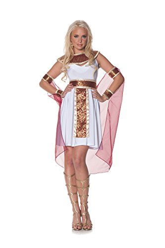 [Underwraps Women's Jewel Of The Nile, White/Burgundy/Gold, Medium] (Nefertiti Halloween Costumes)