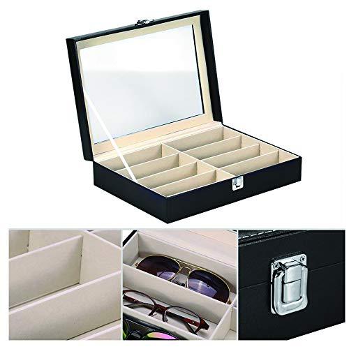 Happy reunion Sunglass Storage Box 8 Slot Eyewear Organizer Case 13.2