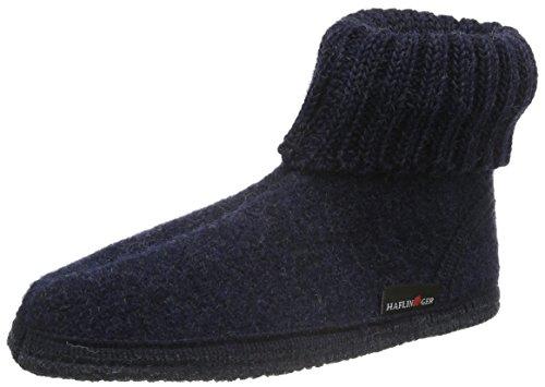 Haflinger Karl 631047K - Zapatillas de casa de tela para niños Azul - Blau (Kapitän 79)