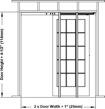 1500 Commercial Grade Pocket Door Frame (32'' x 80'') by Johnson Hardware (Image #5)