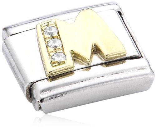 Nomination - 030401 - Maillon pour bracelet composable - Femme - Acier inoxydable et Or jaune 18 cts