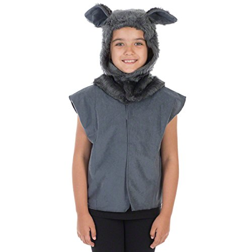 (Wolf Costume for Kids. One Size. 3-9)
