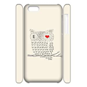 3D [Owl Series] IPhone 5C Case i Love You Owl, Iphone 5c Case for Boys Vinceryshop - White