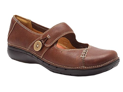 Un Knot Leather Chestnut Clarks Unstructured 57ZBOO