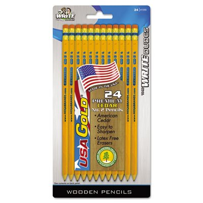 Rose Art DDR64 #2 HB Lead USA Gold Standard Yellow Pencils 24 Pack ()