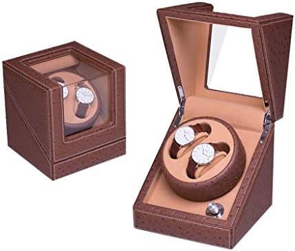 上げ機 自動ダブルウォッチワインダーの静かな時計収納ディスプレイボックス4回転モードウォッチワインダー 腕時計ワインディングマシーン (Color : B)