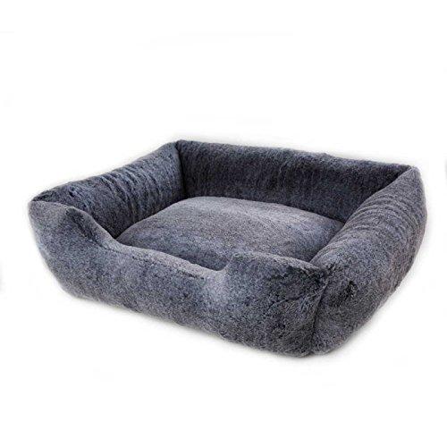Vanderpump Pets Plush Pet Bed (Grey)