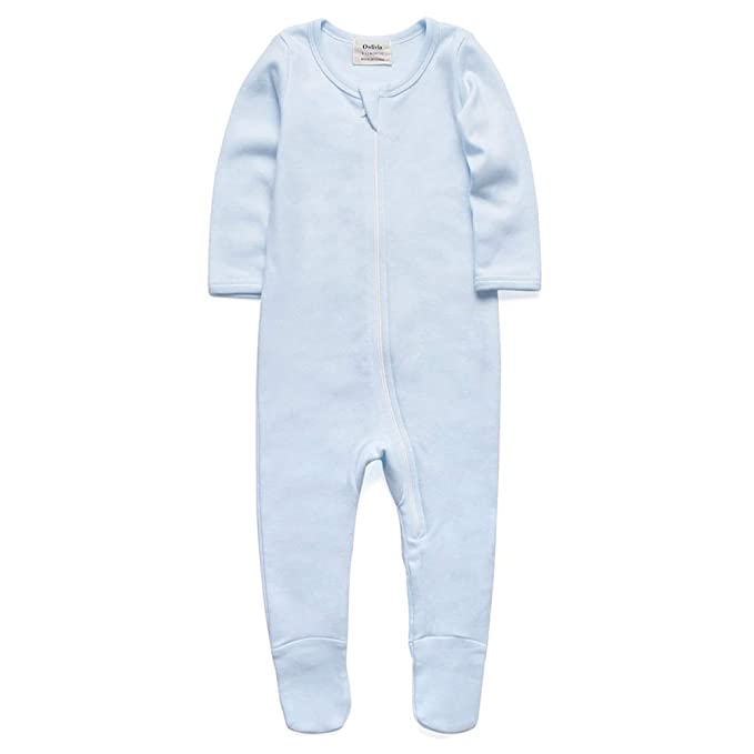 68103ce9a011 Amazon.com  O3 O2Baby Baby Boys Girls Organic Cotton Zip Front ...