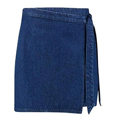 Boohoo Tie Wrap Falda, Azul, 36 para Mujer: Amazon.es: Ropa y ...