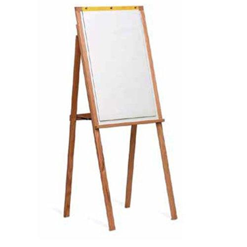 Marsh 64X24 White Remarkaboard markerboard Presentation Easel w/ flip charts, Oak Wood frame Computer, Electronics
