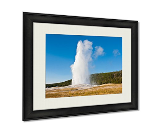 Ashley Framed Prints Eruption Of Old Faithful Geyser At Yellowstone National Park Art photography interior design artwork framed office 24x30 art by Ashley Framed Prints