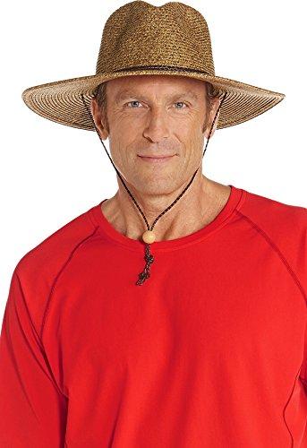 Coolibar UPF 50+ Men's Beach Comber Sun Hat - Sun Protective (Large/X-Large- Brown/Natural)
