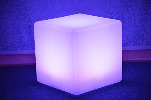 Bam Products LED Cube Light up Decor Furniture Different Sizes (18 - Stool White Bar Acrylic