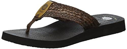 Kali Brown Yellow Women's Dark Sandal Box qWg1Ov