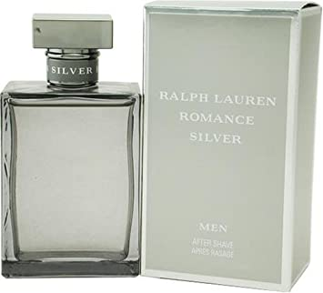 Romance Silver by Ralph Lauren for Men, After Shave, 3.4 Ounce
