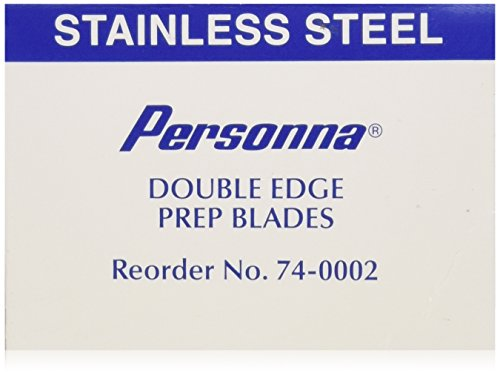 (Personna Prep Double Edge Razor Blades - Model 74-0002 - Box of 100)