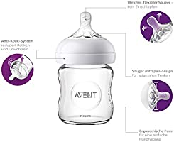 für Neugeborene aus Glas Philips Avent Natural Flaschenset SCD303//01 transpare