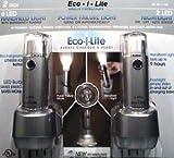Eco-i-Lite Power failure light, Handheld light, Nightlight (2 Pack Silver)