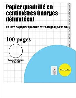 Papier Quadrille En Centimetres Marges Delimitees Un Livre De