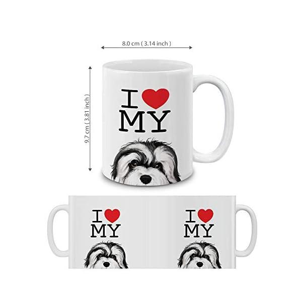 MUGBREW I Love My White Silver Havanese Dog Ceramic Coffee Gift Mug Tea Cup, 11 OZ 4