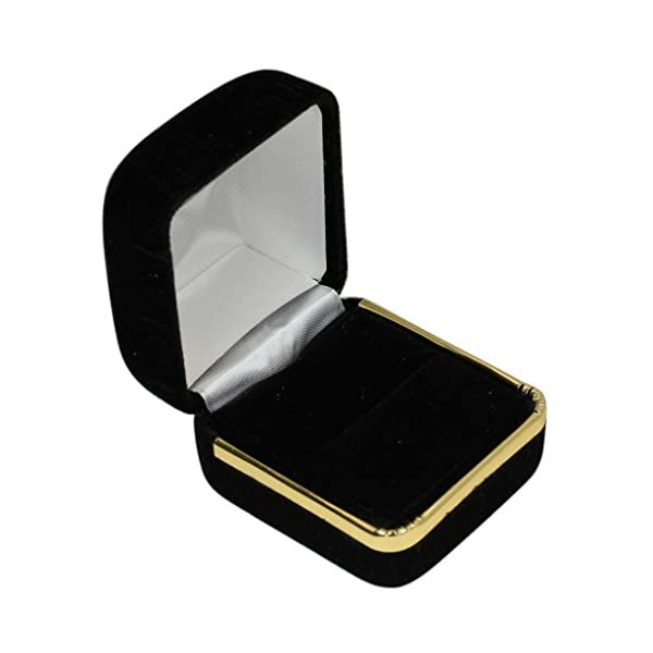 JamesJenny-Mens-14K-Yellow-Gold-055ct-Round-CZ-Solid-Band-Ring-Size-7-12