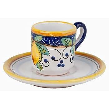Amazon.com | Hand Painted Italian Ceramic Espresso Cup ...