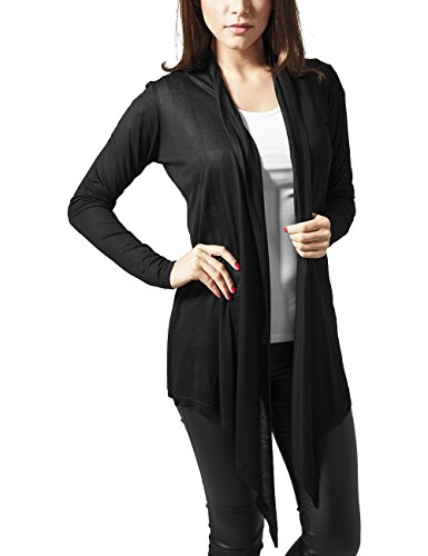 Viscose Negro Urban Classics Black Ladies para Mujer Cardigan Abrigo qZEUxvZ