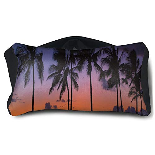 Eye Pillow Sunset And Coconut Trees In Hawaii Marvellous Eye Bag Bed Mens Portable Blindfold Sleeping Protection