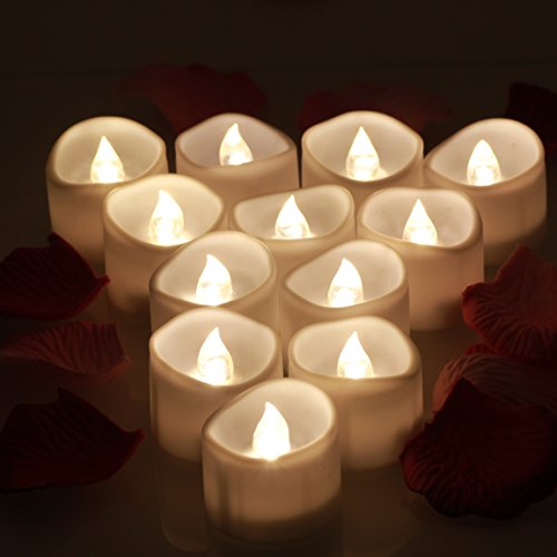 Omgai Led Tea Lights Candles With Timer Battery Operated