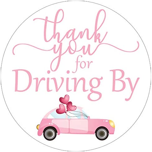 Thank You for Driving by means of Stickers - 1.75 in - 40 Labels (Light Pink)