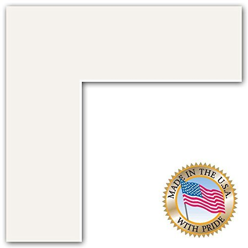22x28 Polar White / Porcelain Custom Mat for Picture Frame with 18x24 opening size (Mat Only, Frame NOT Included)