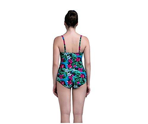 Shangrui Mujer Traje de Baño de la Serie Impreso ángulo plana Cabestrillo de una Pieza Traje de baño(FZIMY1701) 3#