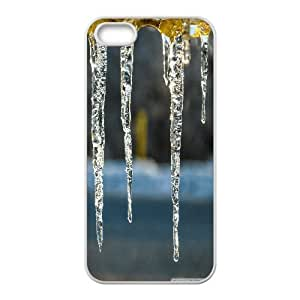 Icicles on a Cold Afternoon IPhone 5,5S Cases, Iphone 5 Case Cute Cheap Okaycosama - White