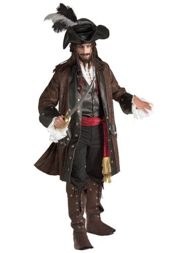 Rubies Mens Caribbean Pirate Buccaneer Darkheart Theme
