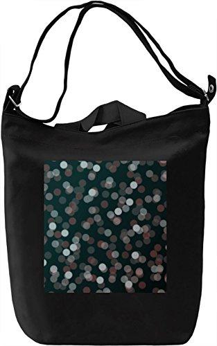 Lights Print Borsa Giornaliera Canvas Canvas Day Bag| 100% Premium Cotton Canvas| DTG Printing|