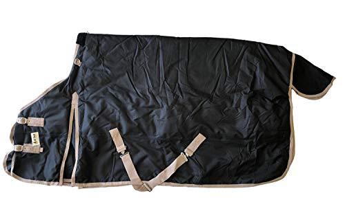 Heavy Weight Horse Turnout Blanket 1200D Rip Stop Water Proof Black 72 (Best Waterproof Horse Blanket)