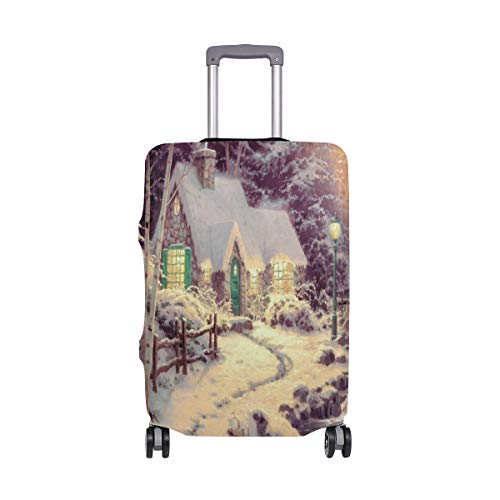 Lighting House River Water Forest Travel Luggage Cover Luggage protector Spandex Suitcase Cove Protector For Travel Kids Men -
