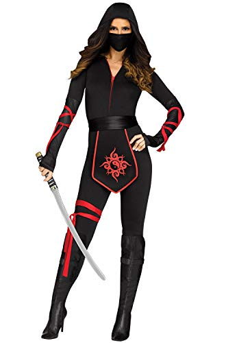Fun World Women's Sexy Ninja Warrior Adult Costume, Multi, Large -