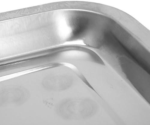 Dedepeng - Tapis de barbecue en silicone - Pour fours assistés par ventilateur - Plaque rectangulaire en acier inoxydable