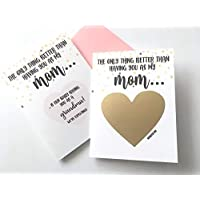 Pregnancy Scratch Off Card for Mom New Grandma