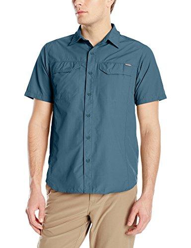 Columbia Men's Silver Ridge Short Sleeve Shirt, Everblue, Medium