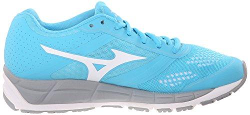 Mizuno mujeres de Synchro MX Zapatilla de Running Blue Atoll-White