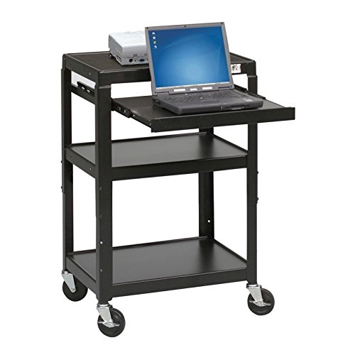 Balt Adjustable Height Laptop Stand (Balt Height Adjustable Retractable Shelf Laptop Audio Video AV Cart)